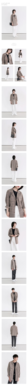 라퍼지스토어(LAFUDGESTORE) (Unisex) 와이드 체크 트러커 셔츠자켓